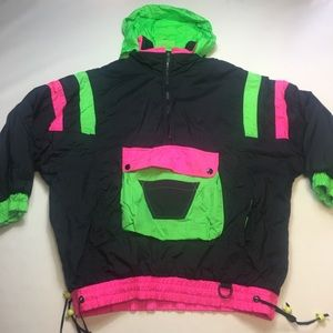 Vintage 90's Neon Pullover Windbreaker Jacket